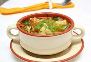 Суп на овощном отваре