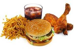 Продукты с высоким содержанием холестерина и легких углеводов