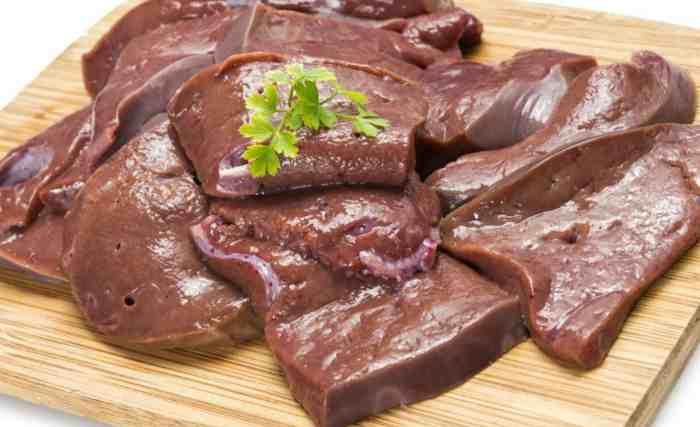 Печень при гастрите с повышенной кислотностью: куриная. свинная, говяжья