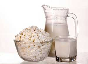 Творог и молоко при диете